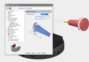 Projection Range options can limit Curve and Surface Projection toolpaths