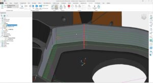 Toolpath start points are often aligned vertically which can leave a witness line